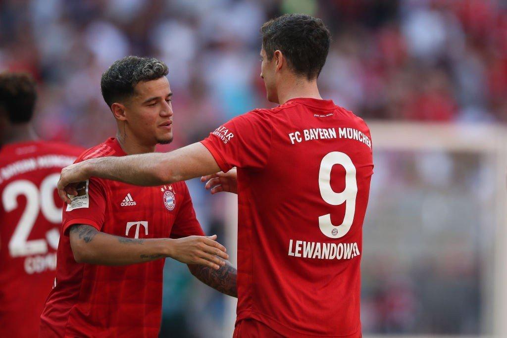Coutinho und Robert Lewandowski