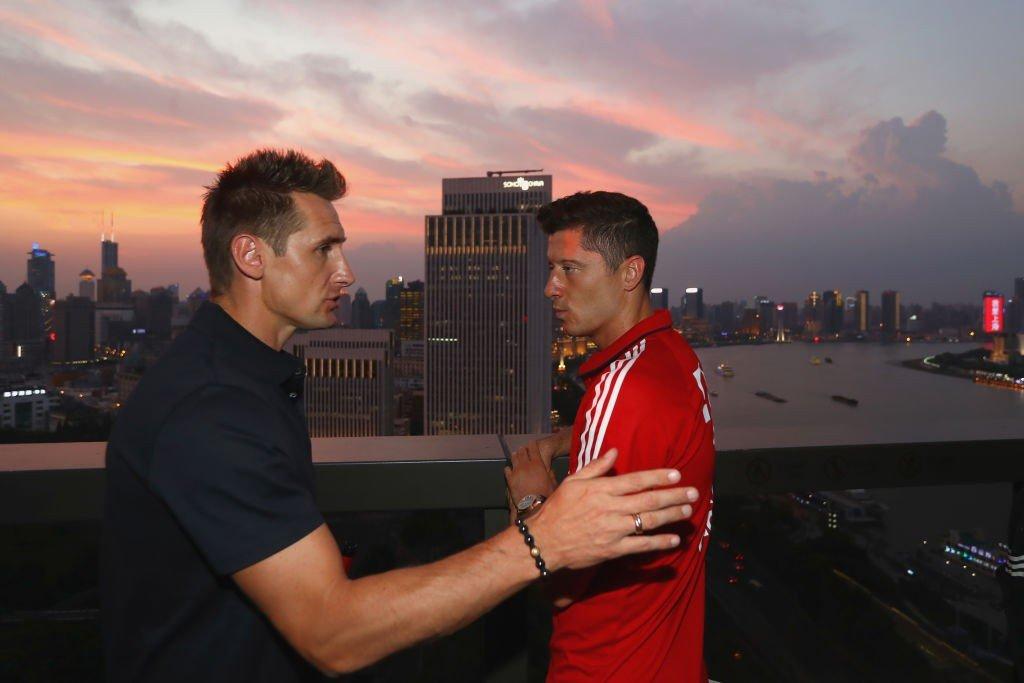 Miroslav Klose und Robert Lewandowski