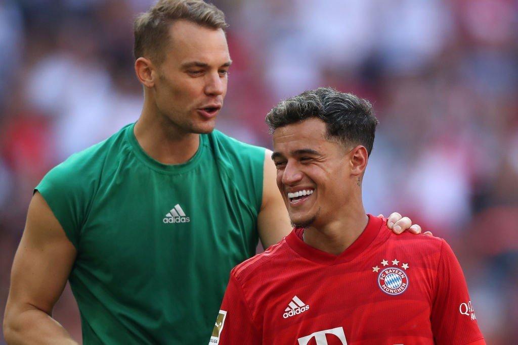 Manuel Neuer und Philippe Coutinho