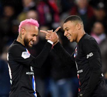 Neymar und Kylian Mbappe