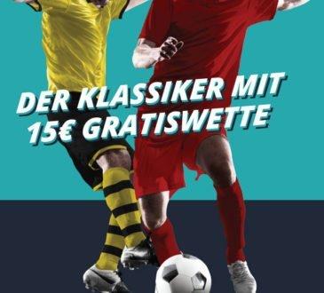 FCB vs. BVB: Sichere dir zum Spitzenspiel eine 15 Euro Gratiswette!