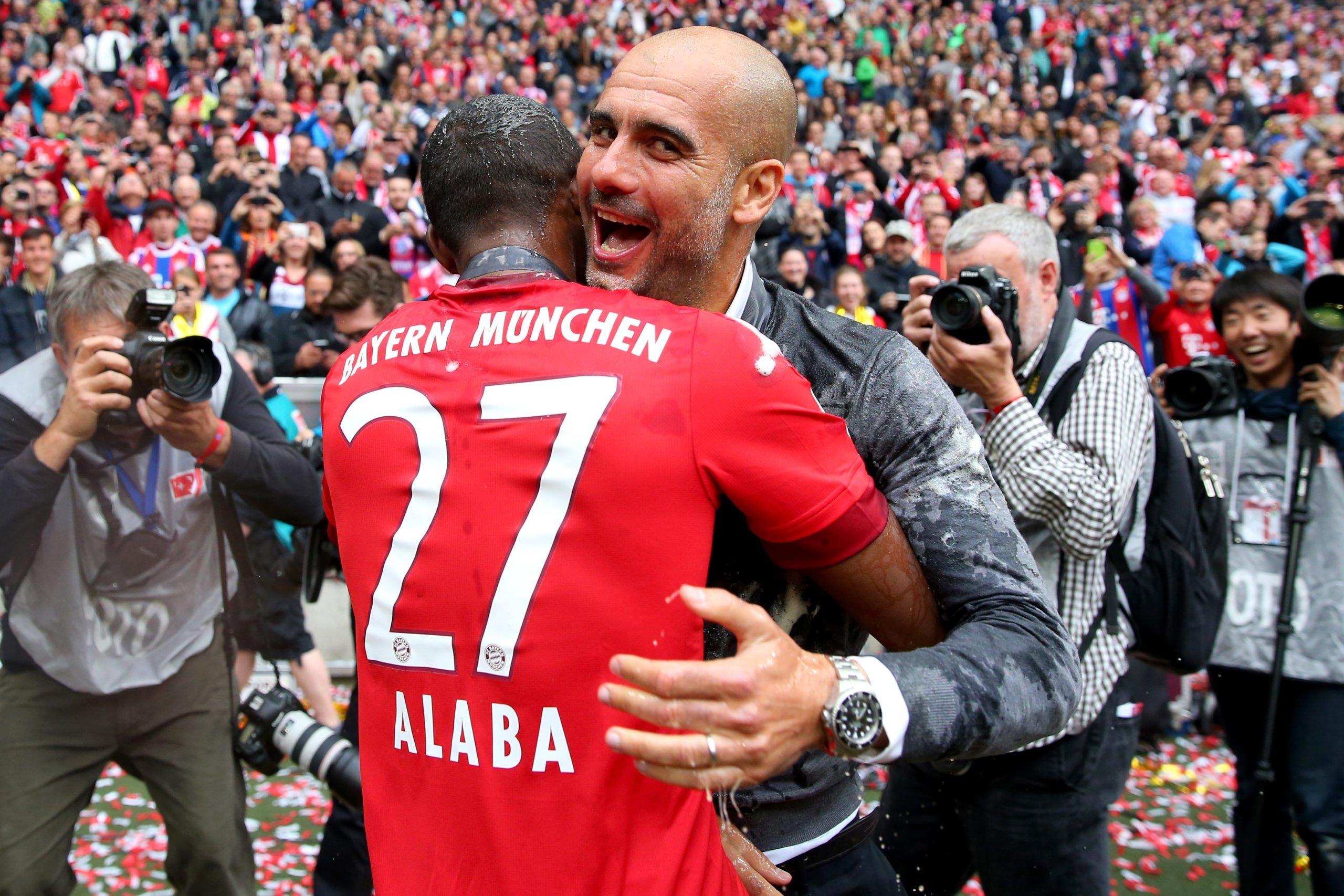 Alaba und Guardiola
