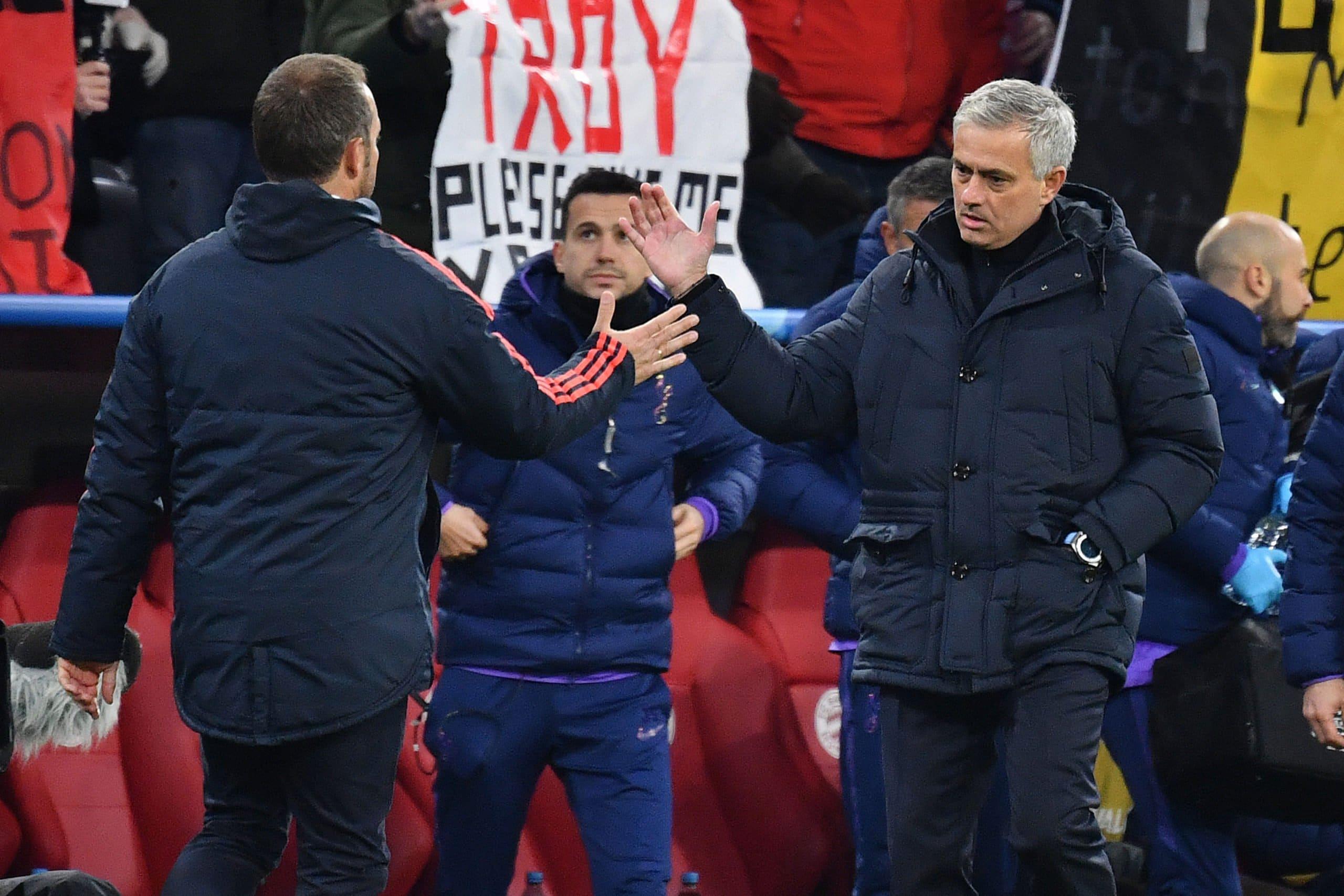 Hansi Flick und Jose Mourinho