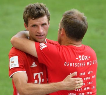 Thomas Müller und Hansi Flick