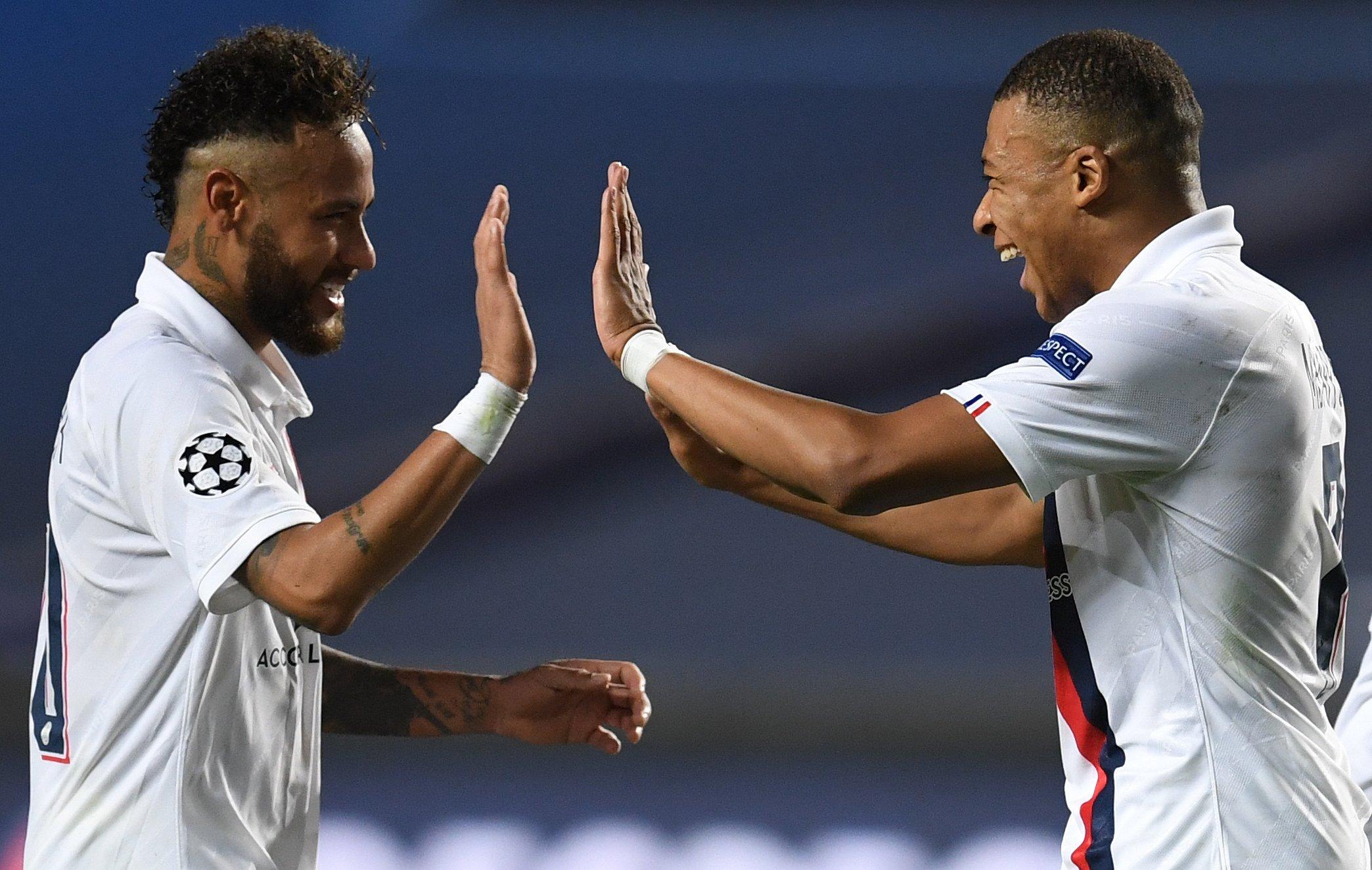 Neymar und Mbappe