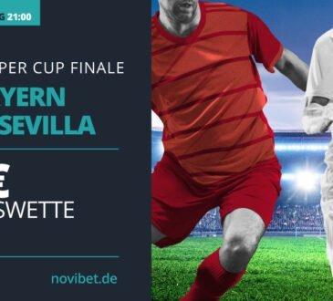 Bayern vs. Sevilla: Sichere dir zum UEFA Supercup eine 15 Euro Gratiswette!