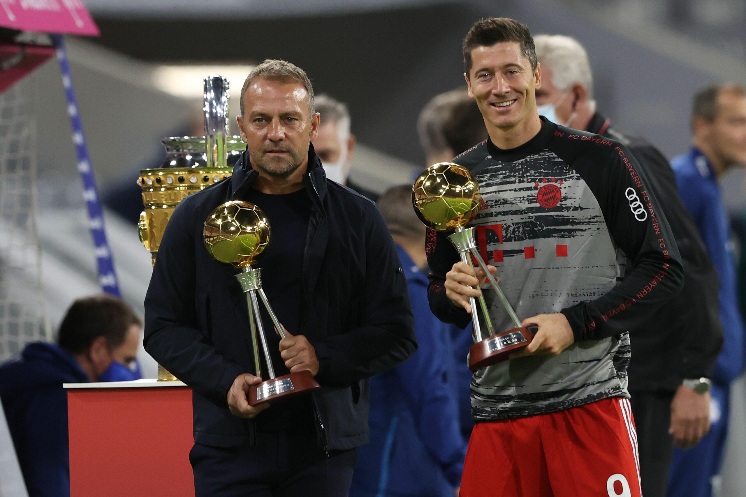 Hansi Flick und Robert Lewandowski