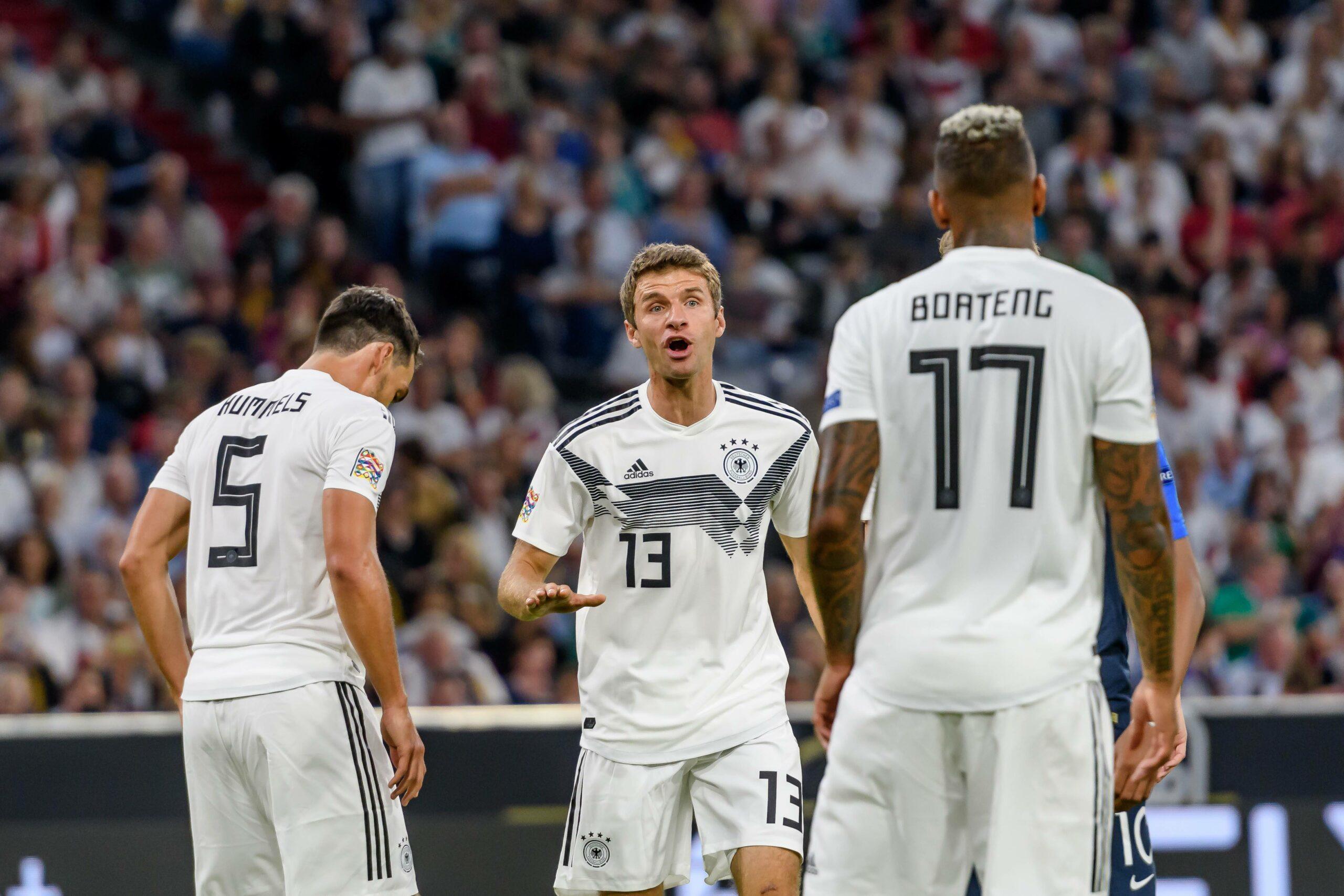 Mats Hummels, Thomas Müller und Jerome Boateng