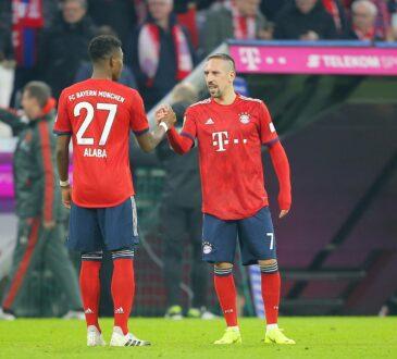 David Alaba und Franck Ribery