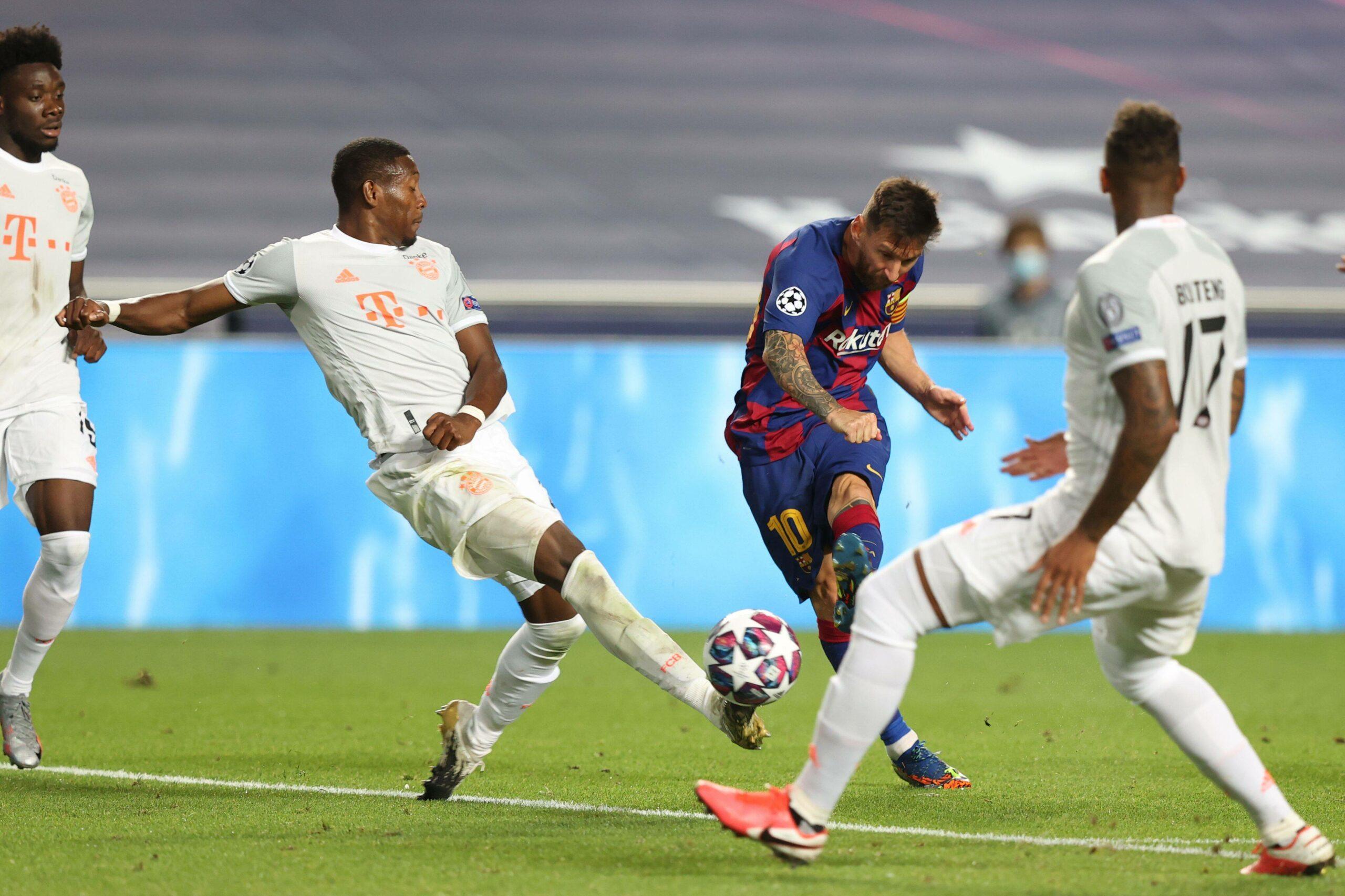 David Alaba und Lionel Messi
