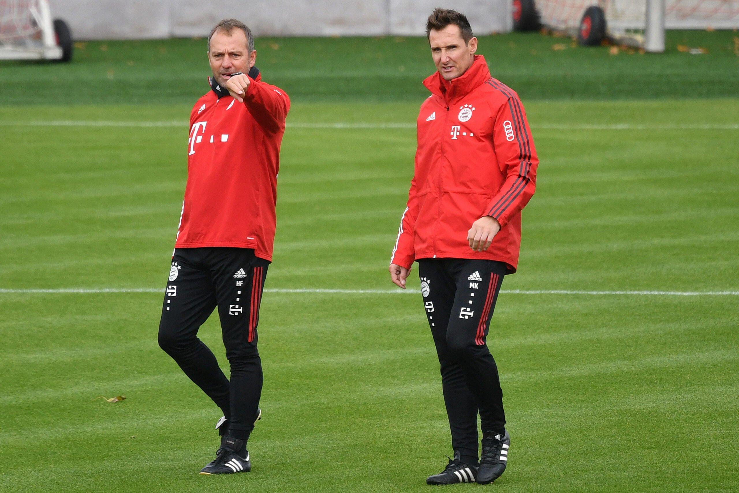 Hansi Flick und Miroslav Klose