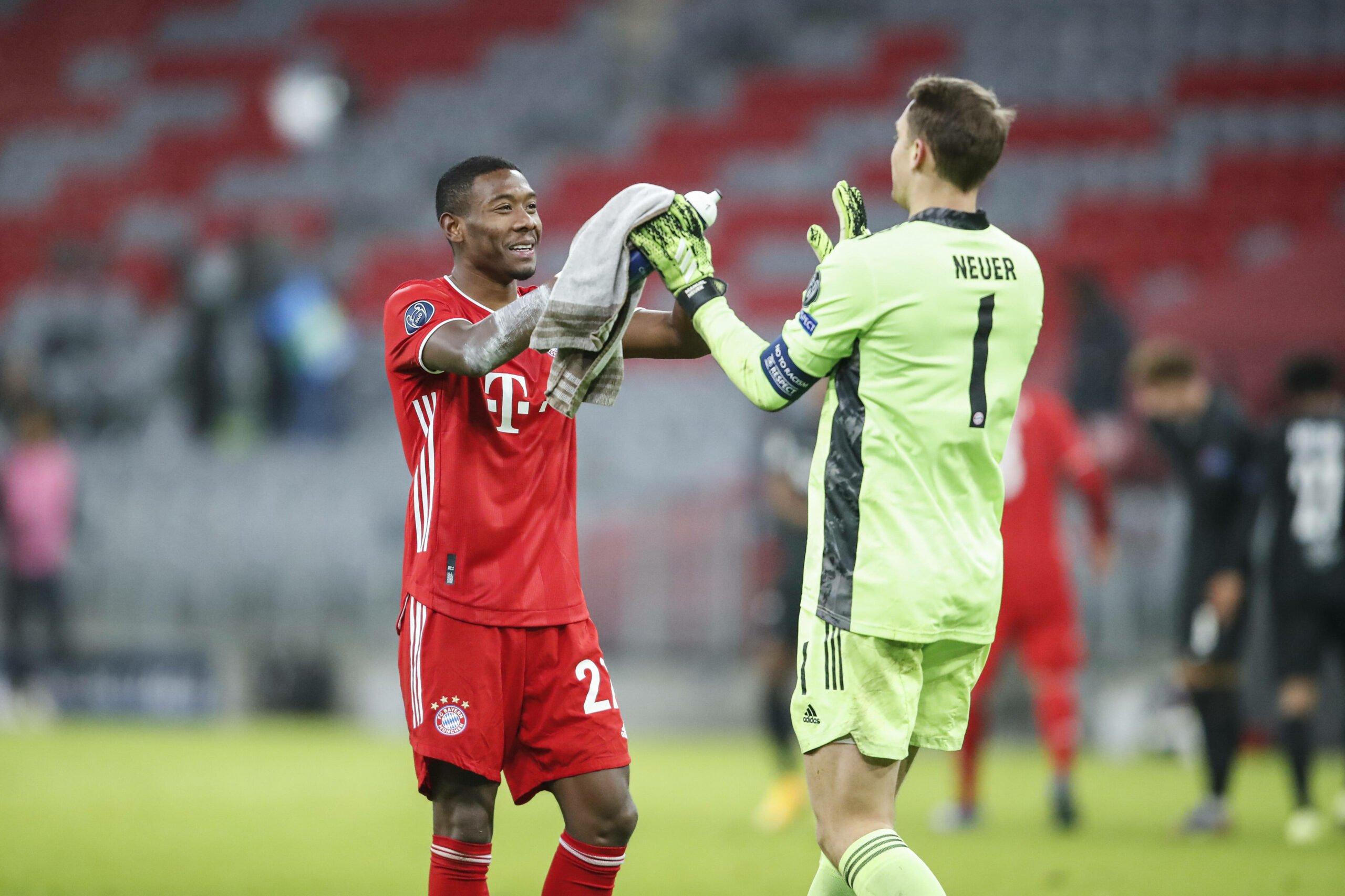 David Alaba und Manuel Neuer