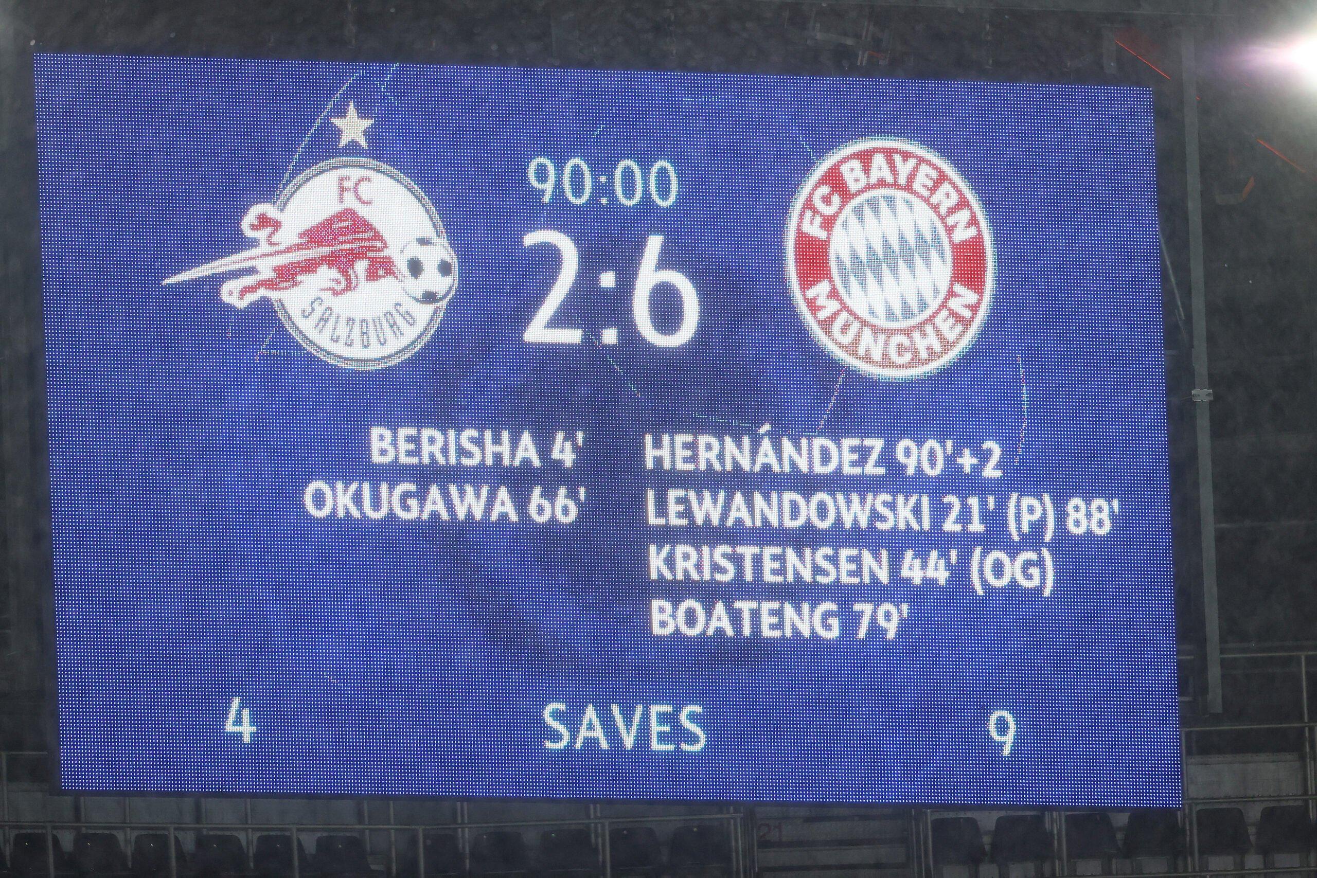 RB Salzburg vs. FC Bayern