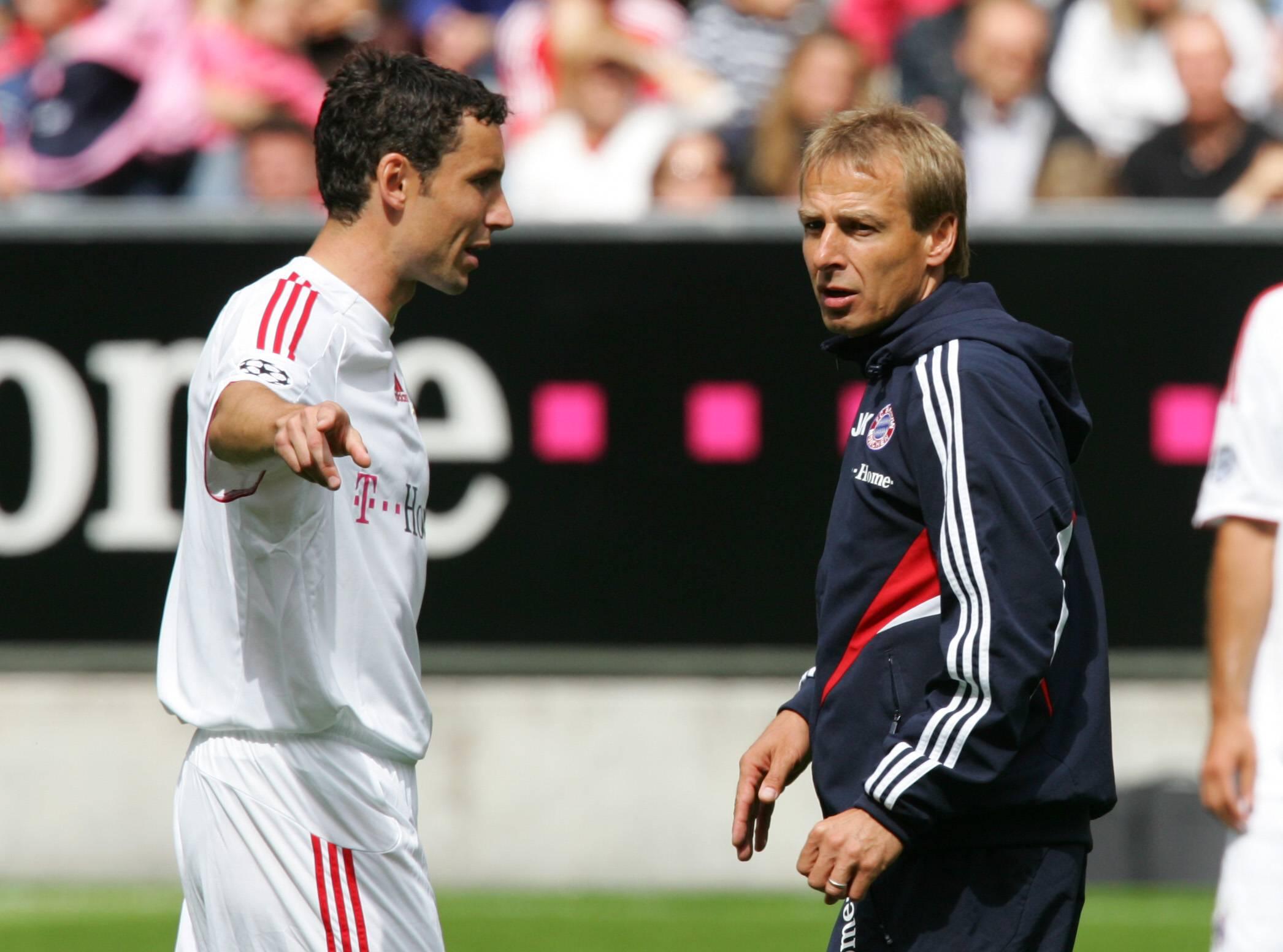 Mark van Bommel und Jürgen Klinsmann