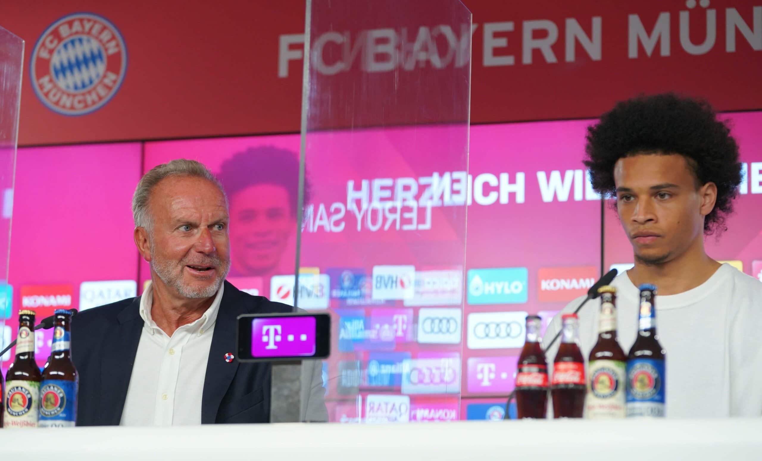 Karl-Heinz Rummenigge und Leroy Sane