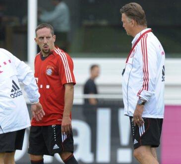 Louis van Gaal und Franck Ribery