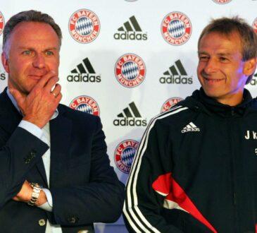 Jürgen Klinsmann und Karl-Heinz Rummenigge