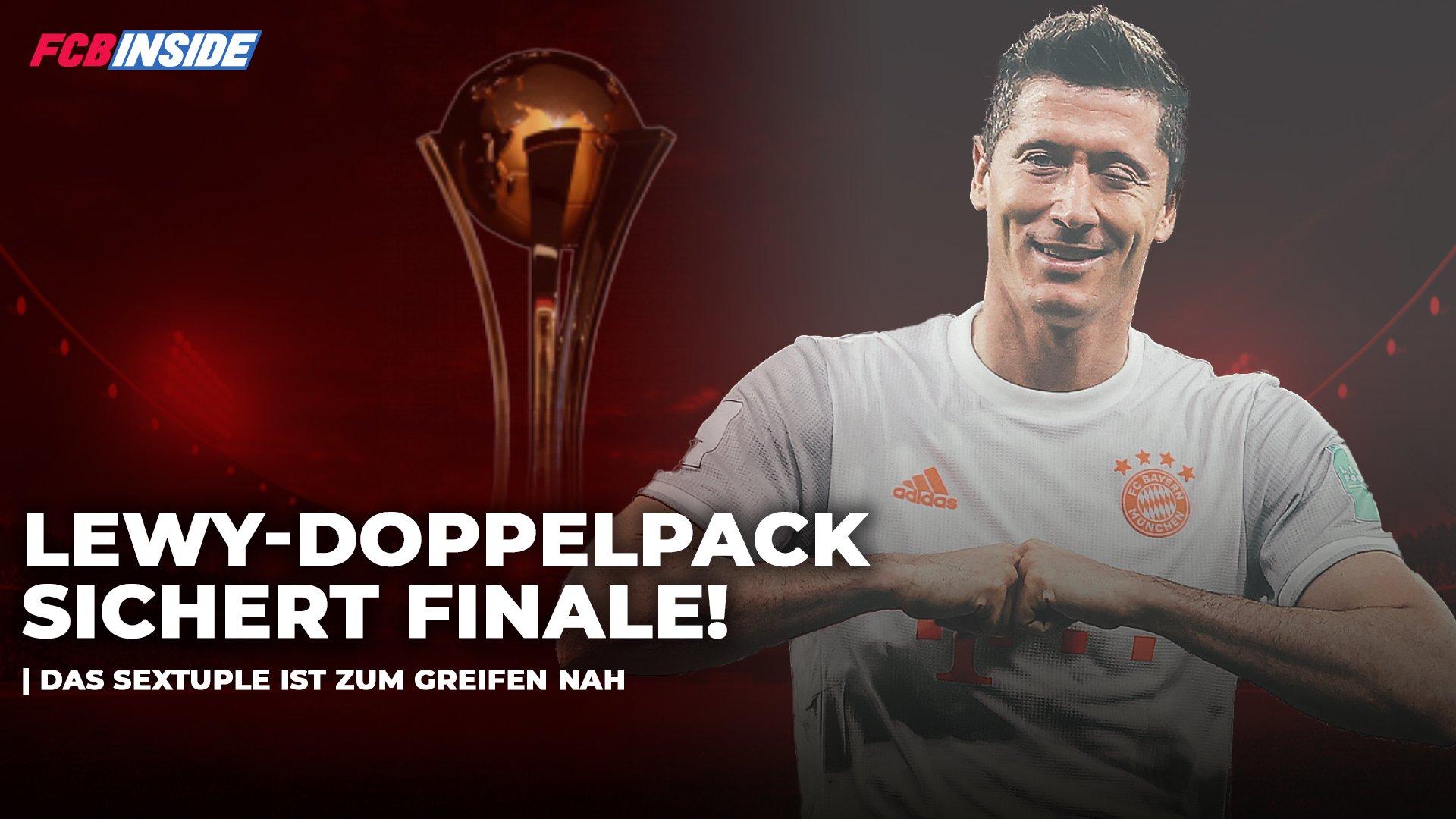 Lewandowski-Doppelpack sichert dem FC Bayern den Einzug ins Finale der Klub-WM!