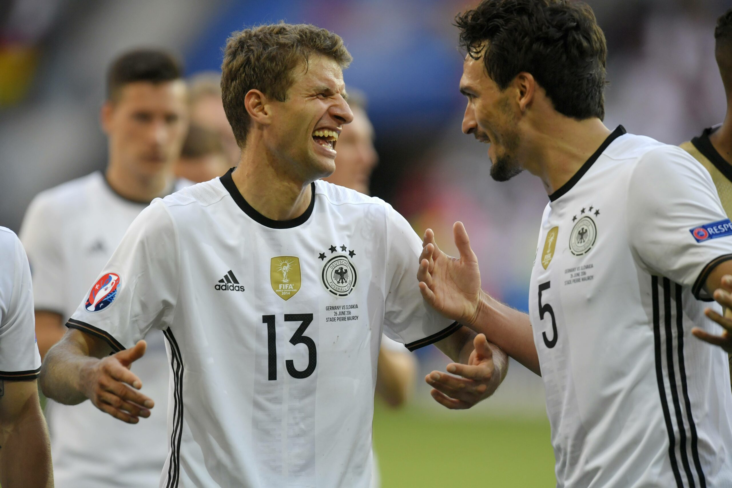 Thomas Müller und Mats Hummels