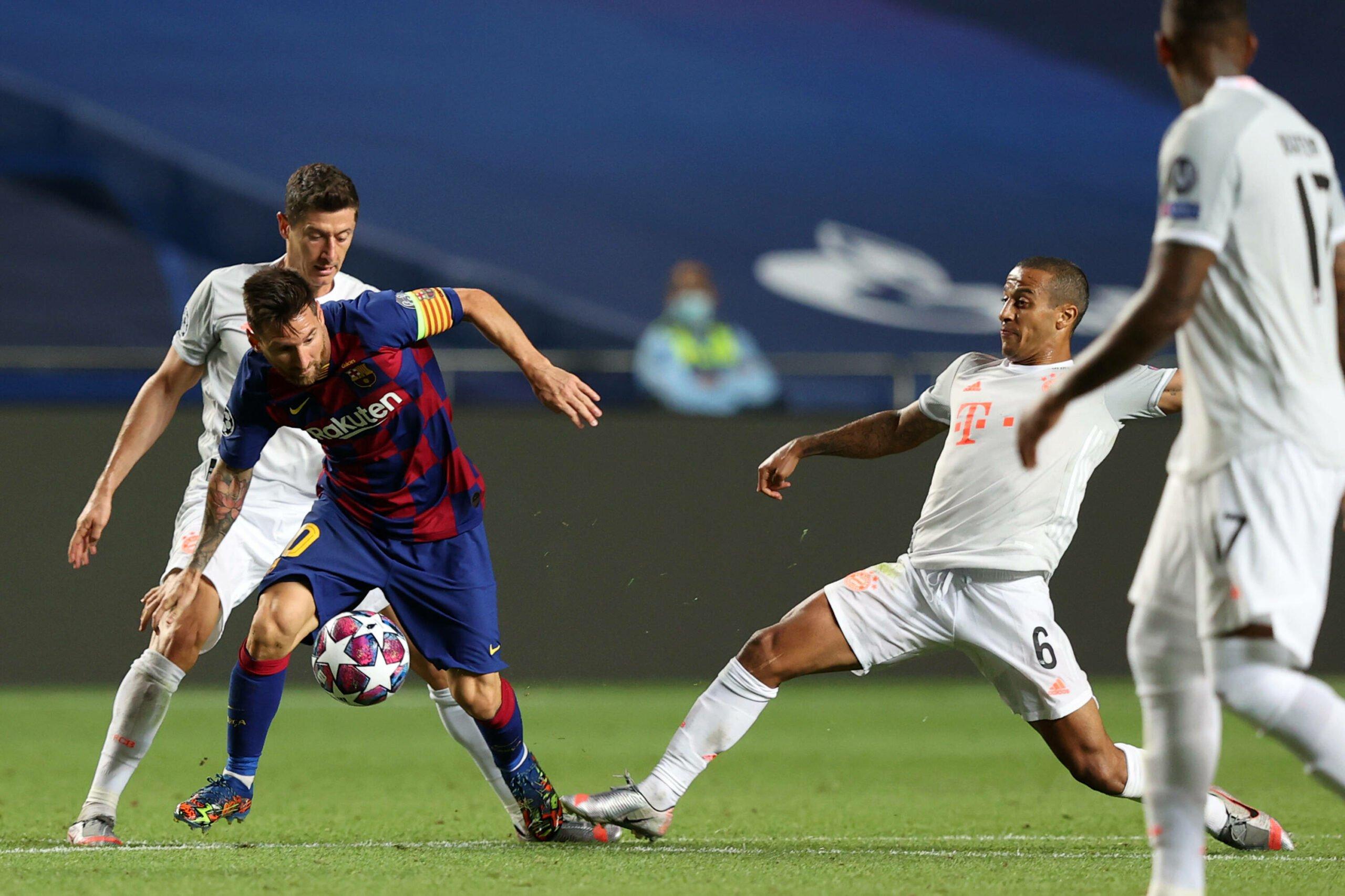 Robert Lewandowski und Lionel Messi