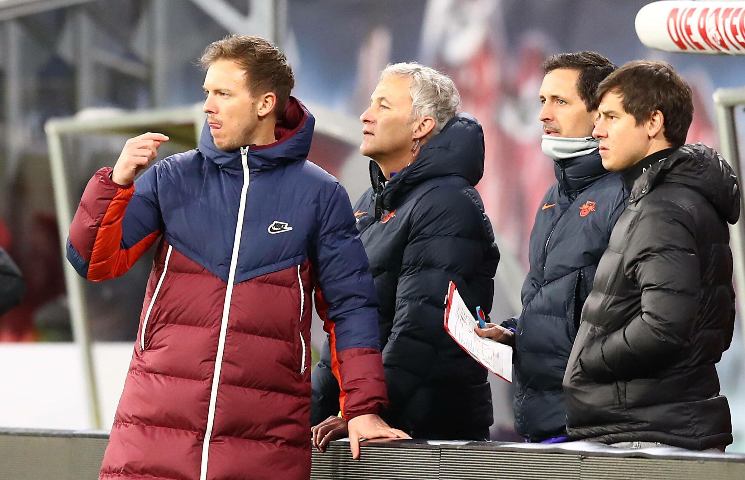 Julian Nagelsmann und seine Assistenten