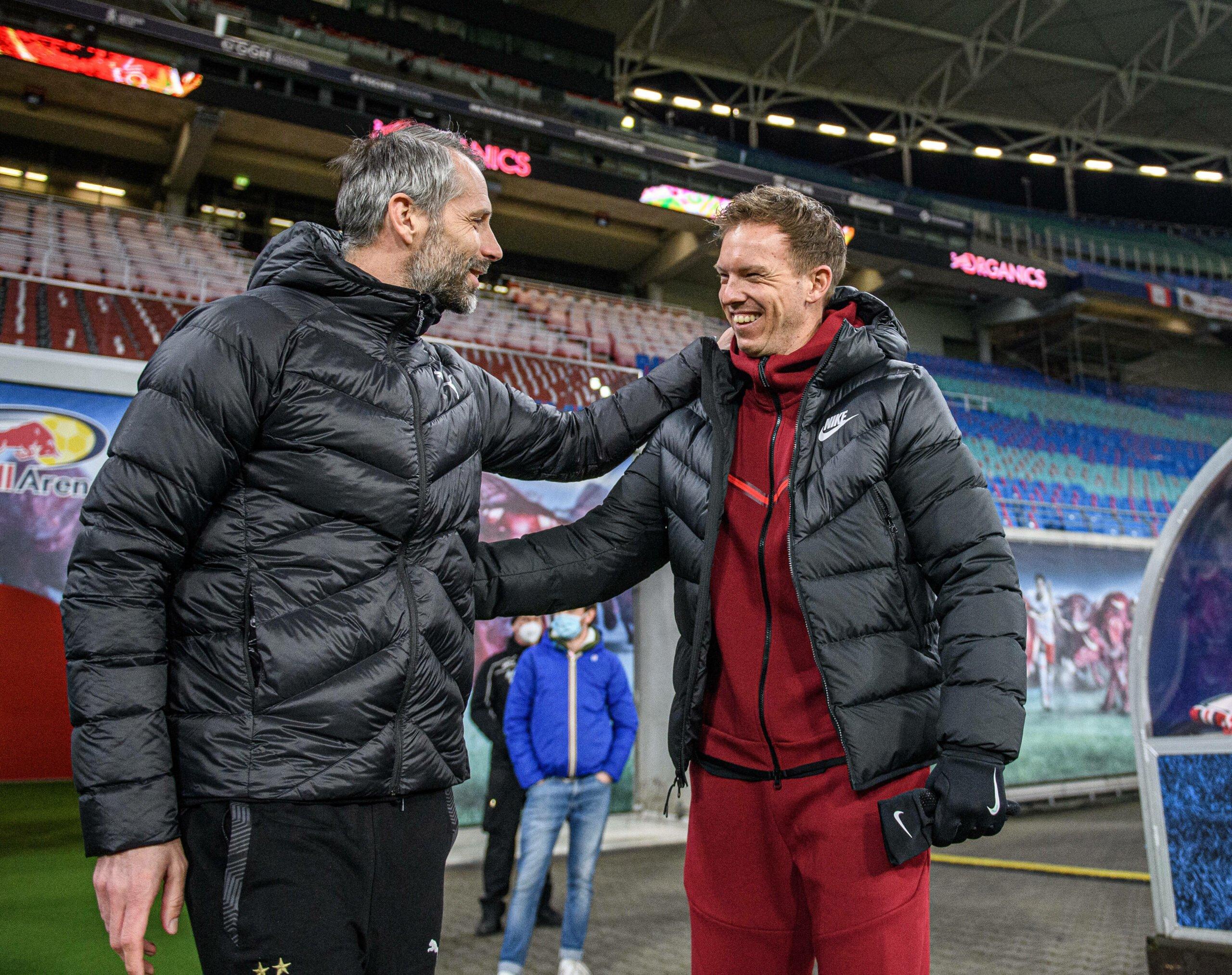 Marco Rose und Julian Nagelsmann