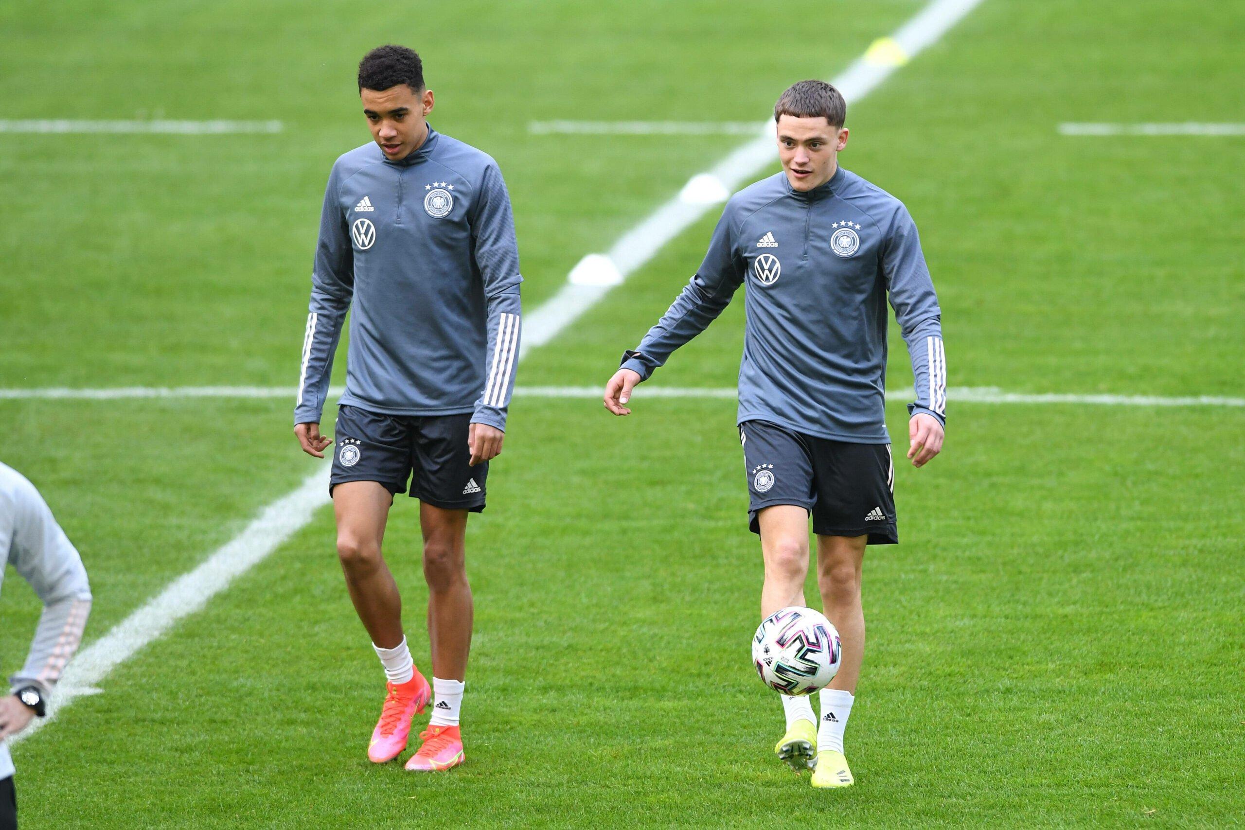 Jamal Musiala und Florian Wirtz