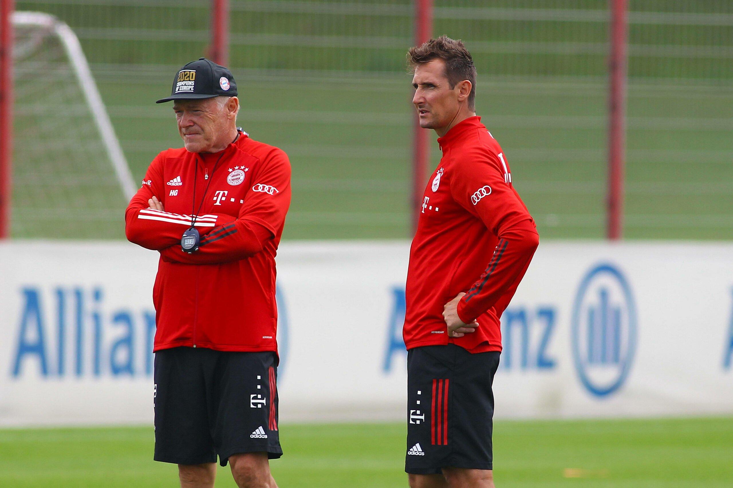Hermann Gerland und Miroslav Klose