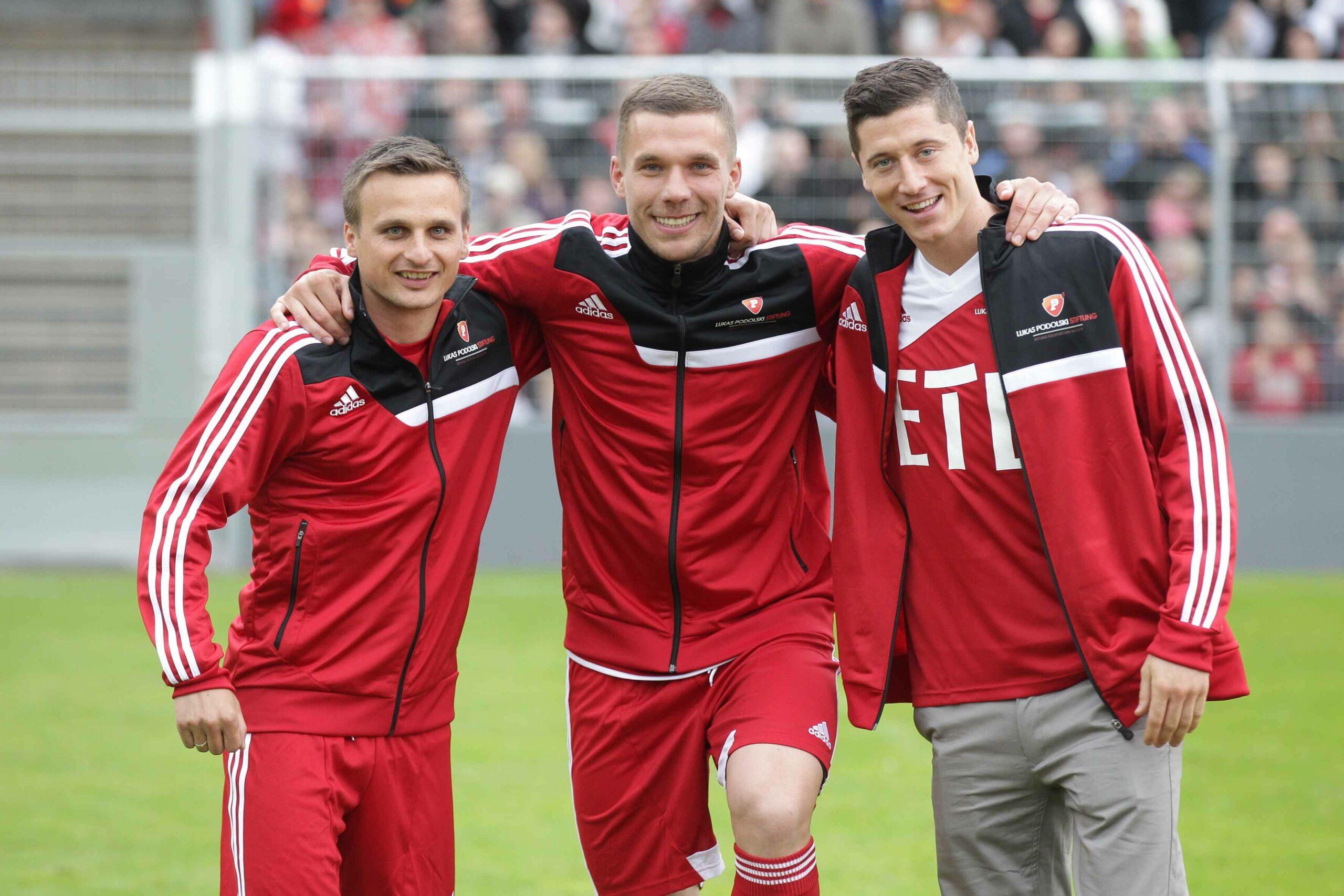 Lukas Podolski und Robert Lewandowski