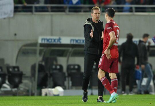 Julian Nagelsmann und Robert Lewandowski